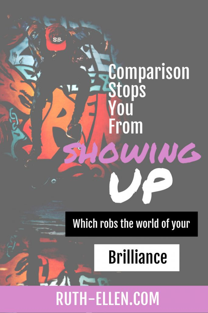 comparing yourself to others robs the world of your brilliance