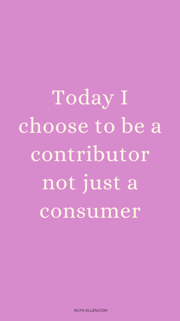 today i choose to be a contributor